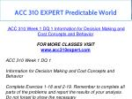 acc 310 expert predictable world 2
