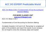 acc 310 expert predictable world 5