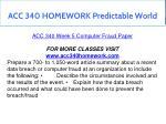acc 340 homework predictable world 16