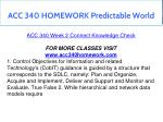 acc 340 homework predictable world 4
