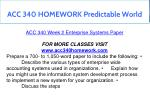 acc 340 homework predictable world 7