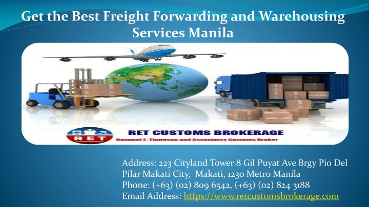 get the best freight forwarding and warehousing n.