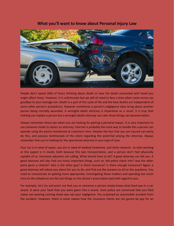 what you ll want to know about personal injury law n.