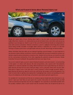 what you ll want to know about personal injury law