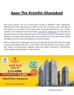 apex the kremlin ghaziabad