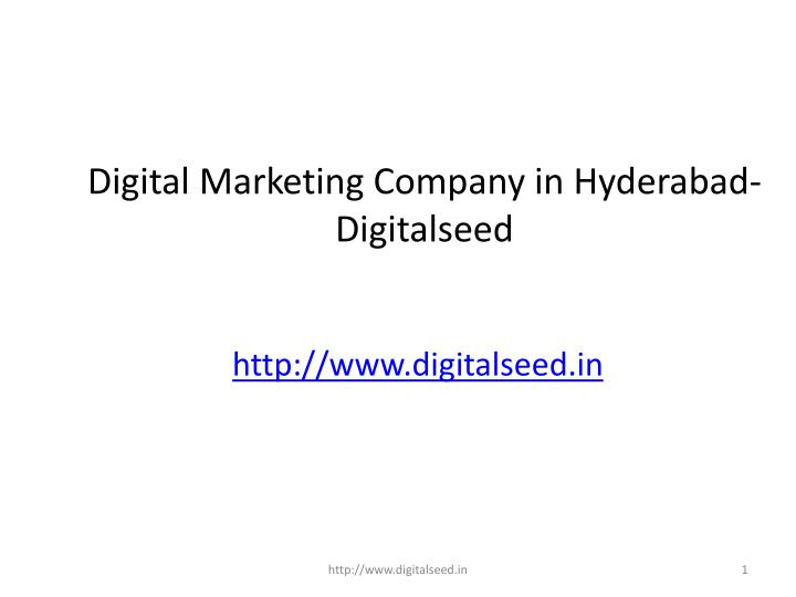 digital marketing company in hyderabad digitalseed n.
