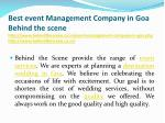 best event management company in goa behind 2