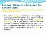 best event management company in goa behind