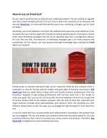 how to use an email list