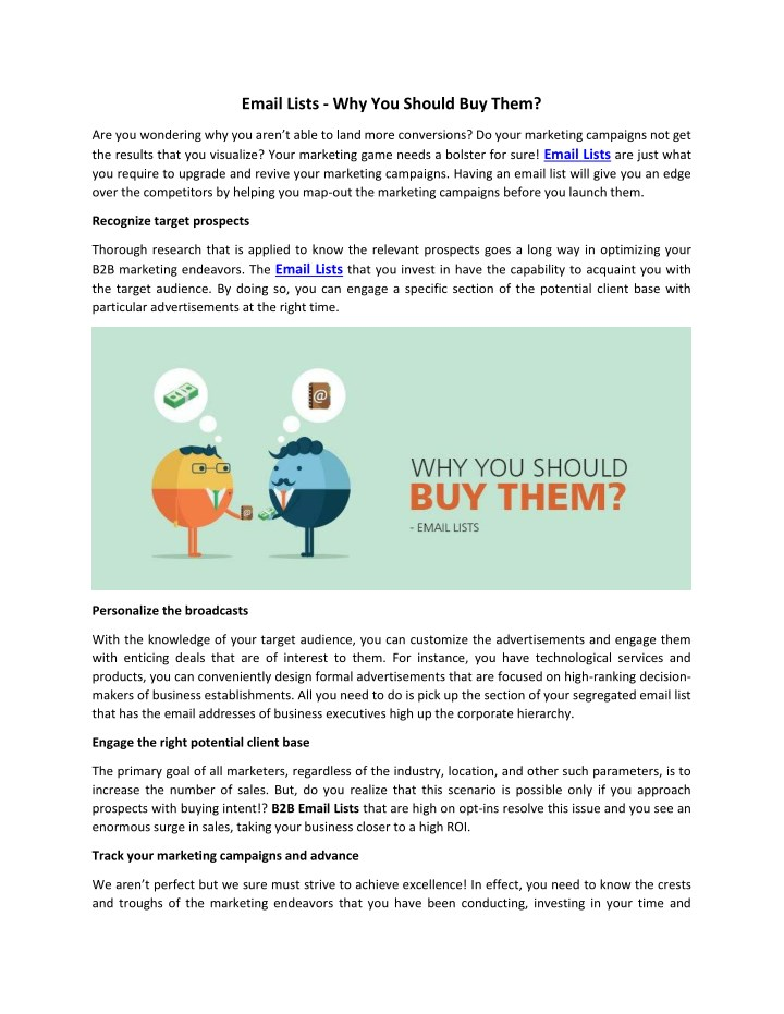 email lists why you should buy them n.