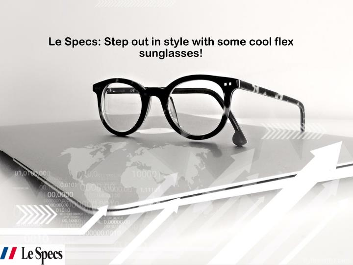 le specs step out in style with some cool flex sunglasses n.