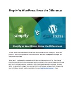shopify vs wordpress know the differences