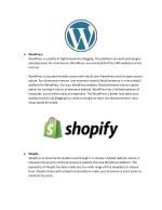 wordpress wordpress is a platform highly known