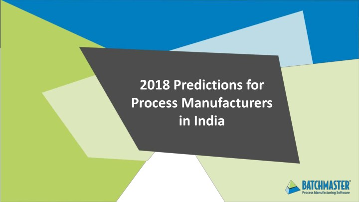 2018 predictions for process manufacturers n.