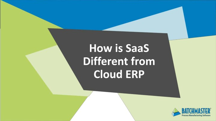 how is saas different from cloud erp n.