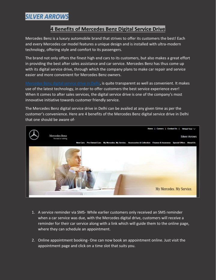4 benefits of mercedes benz digital service drive n.