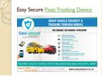 easy secure fleet tracking device