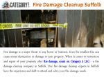 fire damage cleanup suffolk