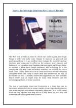 travel technology solutions for today s trends
