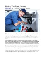 finding the right plumber click here for the best