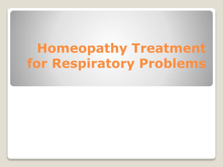 homeopathy treatment for respiratory problems n.