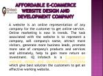 affordable e commerce website design and development company