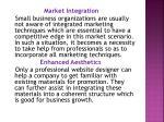 market integration small business organizations