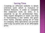 saving time creating an efficient website