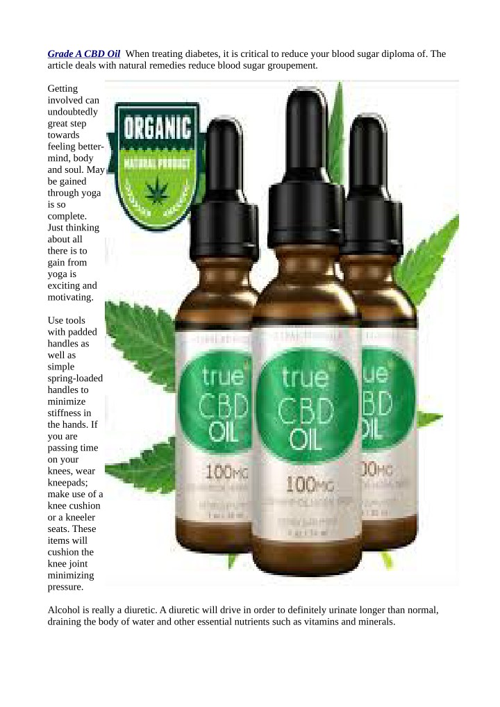 grade a cbd oil when treating diabetes n.