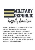 military republic com brings you the coolest
