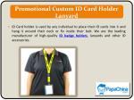 promotional custom id card holder lanyard