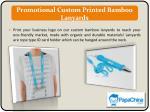 promotional custom printed bamboo lanyards