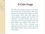 e cake image