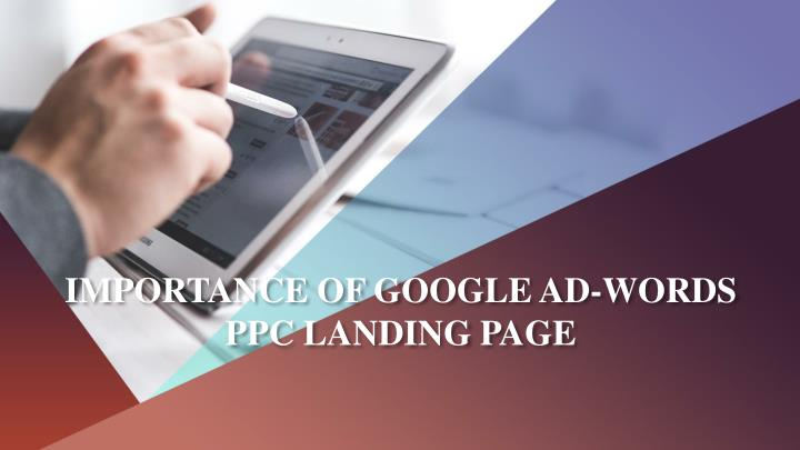 importance of google ad words ppc landing page n.