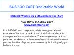 bus 600 cart predictable world 16