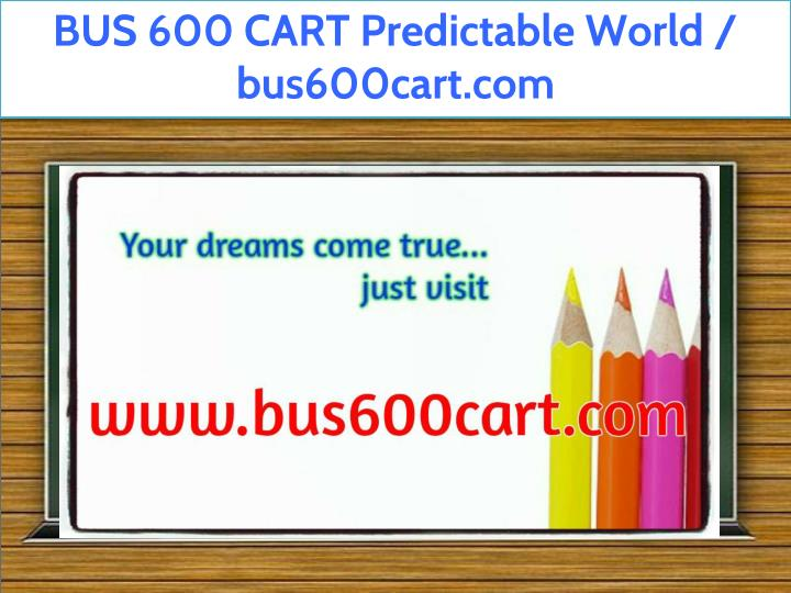 bus 600 cart predictable world bus600cart n.