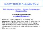 bus 599 tutors predictable world 2
