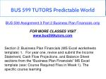 bus 599 tutors predictable world 3