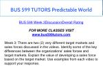 bus 599 tutors predictable world 9