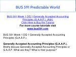 bus 591 predictable world 1