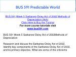 bus 591 predictable world 12