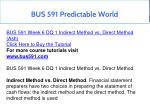 bus 591 predictable world 16