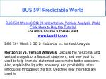 bus 591 predictable world 17
