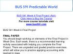 bus 591 predictable world 18