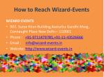 how to reach wizard events