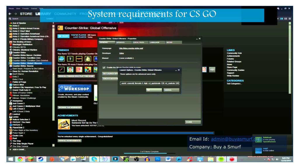PPT - Awesome Playing Requirements for Counter-Strike PowerPoint