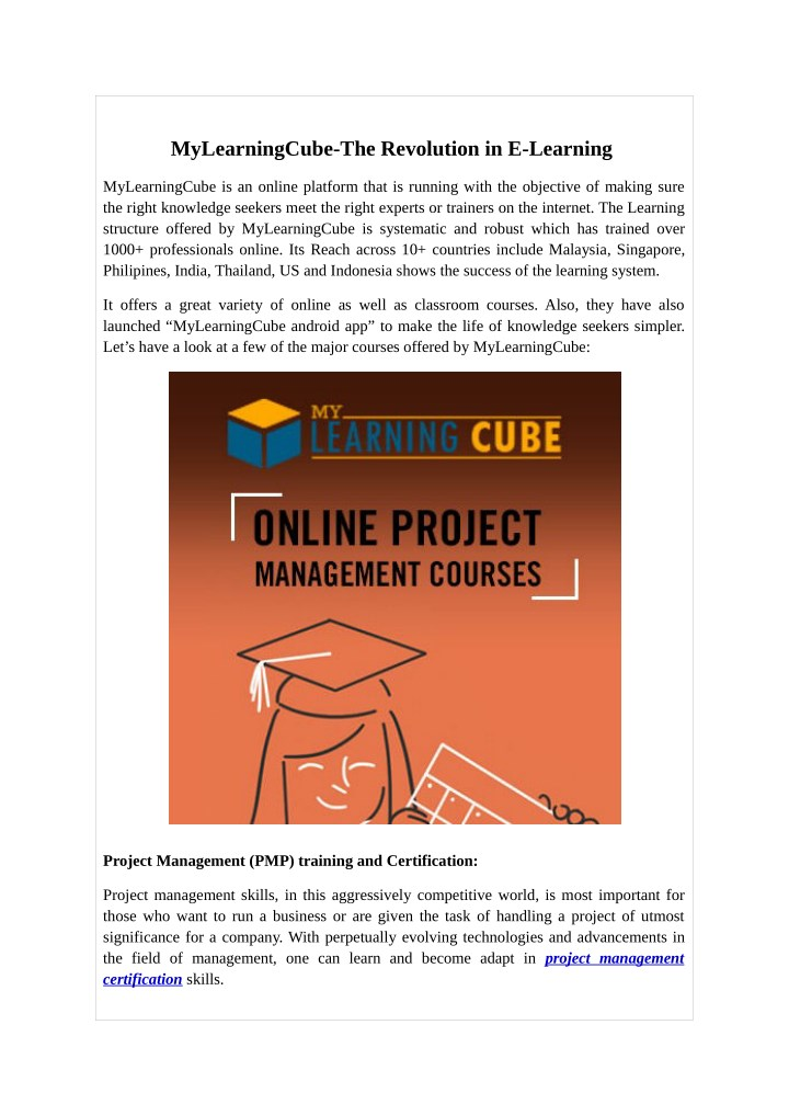 mylearningcube the revolution in e learning n.