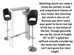 matching stools can make a home bar perfect