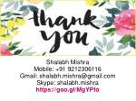 shalabh mishra mobile 91 9212306116 gmail shalabh