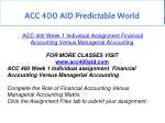 acc 400 aid predictable world 5